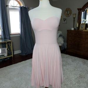 Victoria's Secret strapless,pushup pink dress